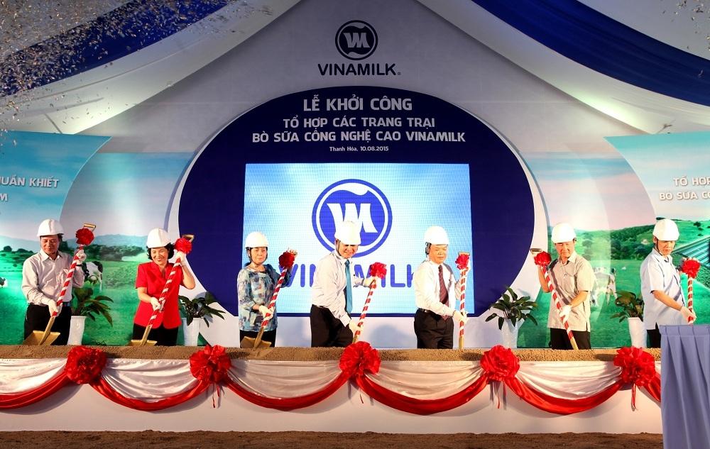 Vinamilk chính thức khởi công tổ hợp các trang trại bò sữa công nghệ cao tại Thanh Hóa