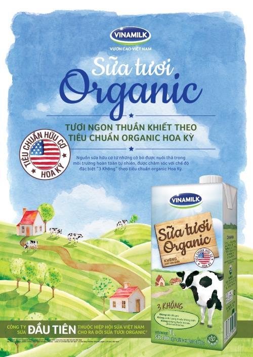 Vinamilk ra mắt người tiêu dùng dòng sữa tươi cao cấp organic