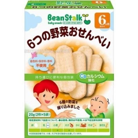 Bánh gạo 6 loại rau củ - 20gr cho bé 06 tháng tuổi