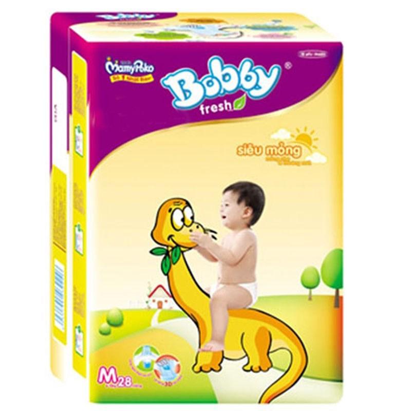 Tã dán Bobby size M - 28 miếng (cho bé 6 - 10kg)