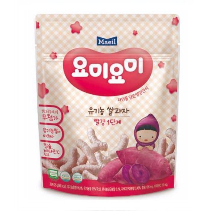 Bánh gạo Organic Khoai Lang Tím 25gr - 7 tháng