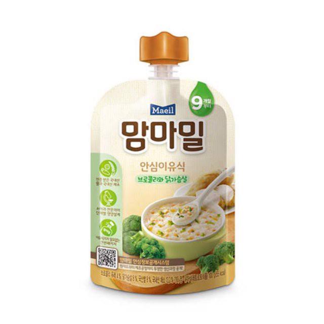 Cháo Organic vị súp lơ xanh và thịt gà 100gr - 9 tháng