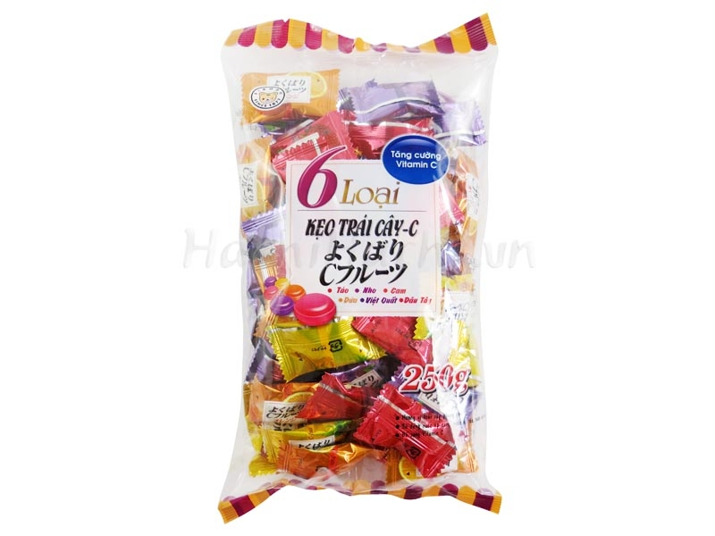 Kẹo trái cây  6 loại 250g