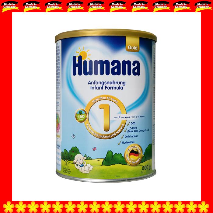 SỮA HUMANA GOLD 1 350 GRAM CHO TRẺ TỪ 0 ĐẾN 06 THÁNG TUỔI