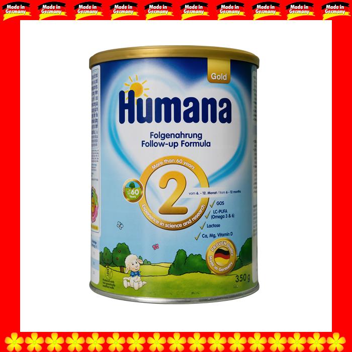 SỮA HUMANA GOLD 2 800 GRAM CHO TRẺ TỪ 06 ĐẾN 12 THÁNG TUỔI