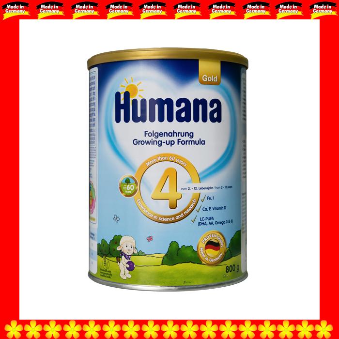 SỮA HUMANA GOLD 4 800 GRAM CHO TRẺ TỪ 02 ĐẾN 12 TUỔI