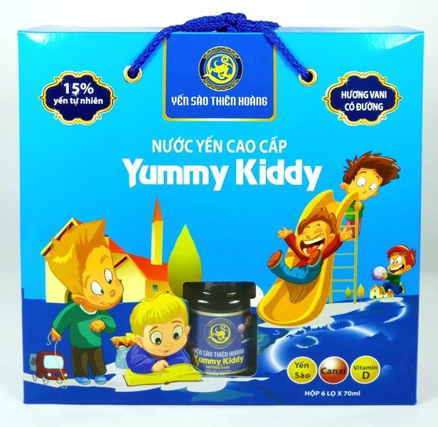 YTH Cao Cấp Yummy Kiddy hương Vani hộp 6 lọ x70ml (6 hộp/thùng)