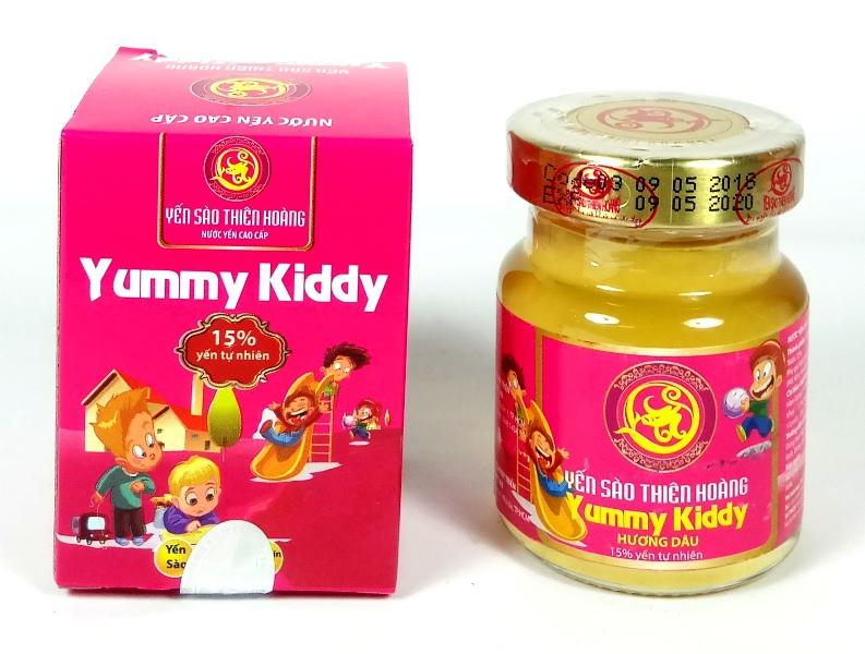 YTH CC Yummy Kiddy hương dâu 15% yến lọ 70ml (60 lọ/thùng)
