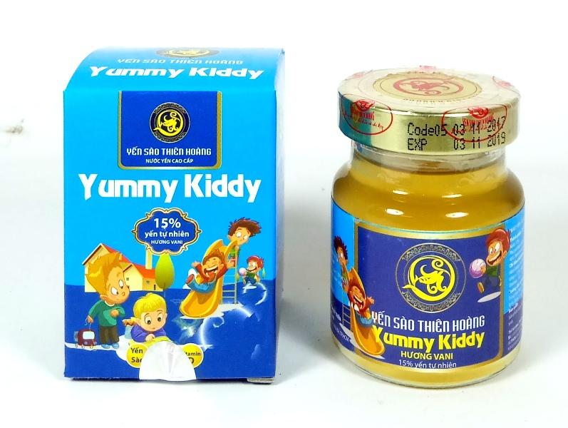 YTH CC Yummy Kiddy hương Vani 15% yến lọ 70ml (60 lọ/thùng)