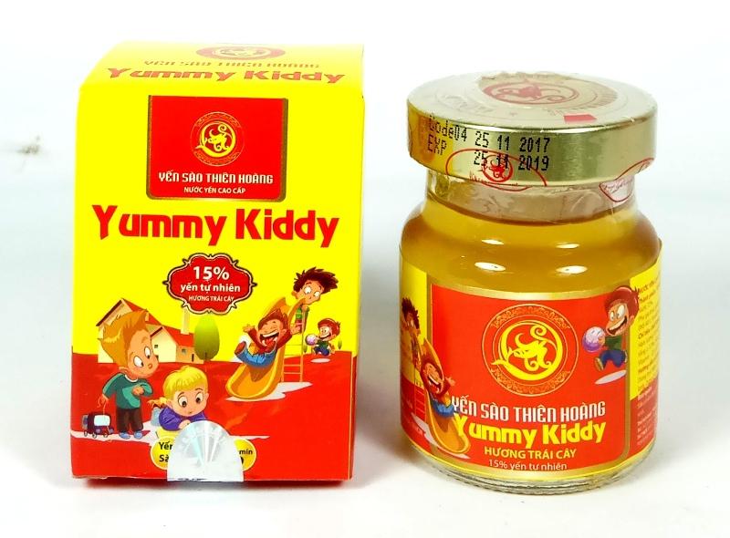 YTH CC Yummy Kiddy hương trái cây 15% yến lọ 70ml (60 lọ/thùng)