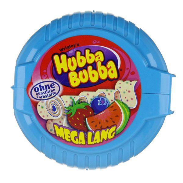 Kẹo Gum cuộn Hubba Bubbal vị Dâu, Việt quất, dưa hấu (xanh)