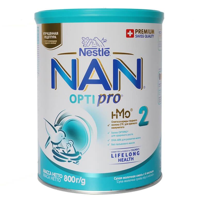 Sữa Nan Nga số 2 800g cho bé từ 6 đến 12 tháng tuổi