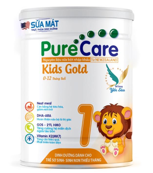 Sữa Mát Pure Care Kids Gold (0-12 Tháng ) 900g