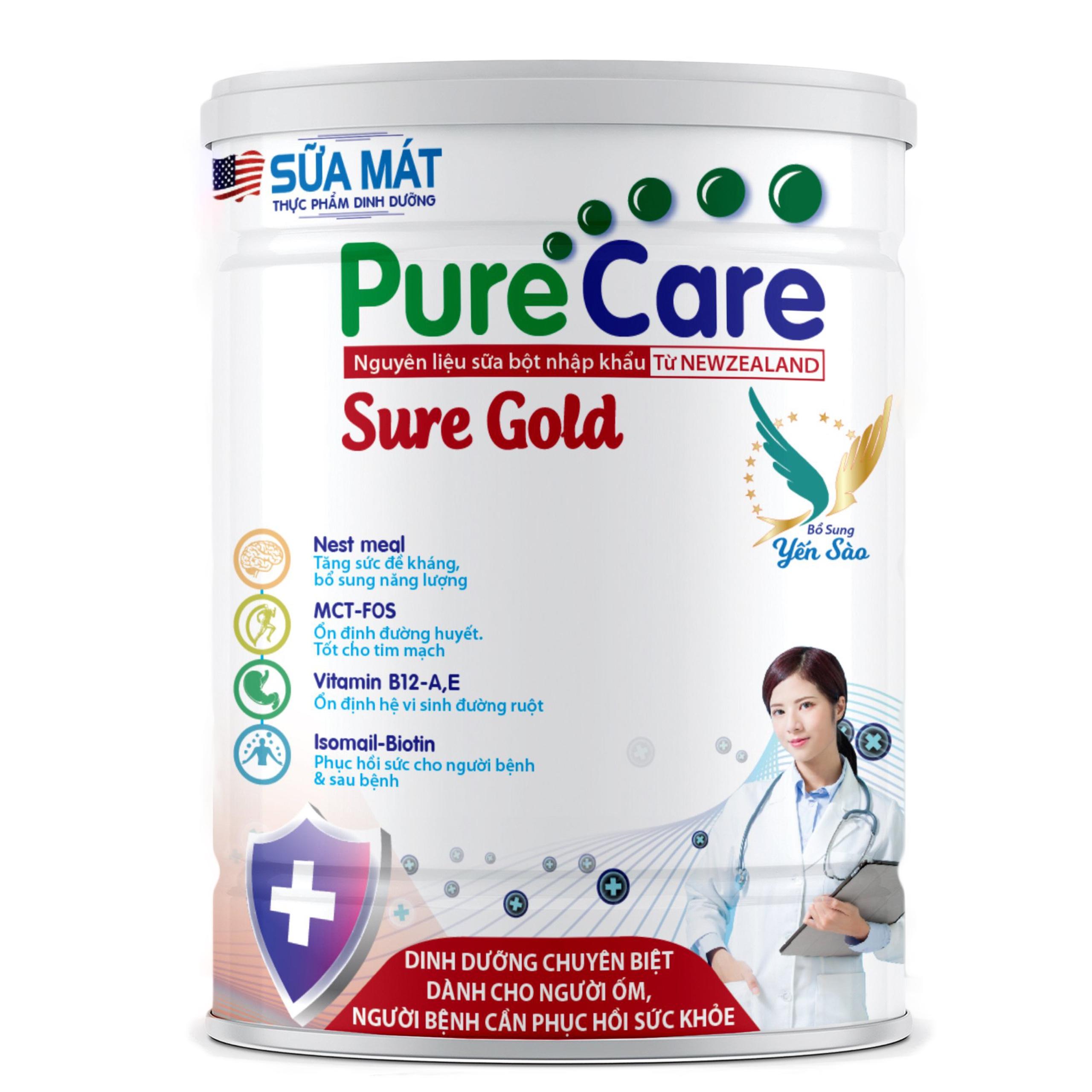 Sữa Mát Pure Care Sure Gold 900g (Thùng 12 lon)