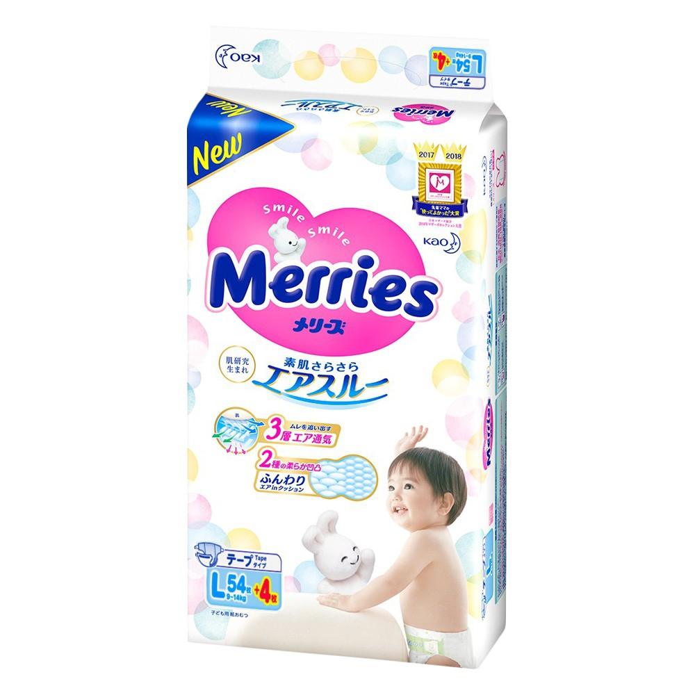 Tã dán Merries L Size 58