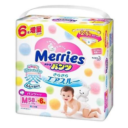 Tã quần Merries size M58+6