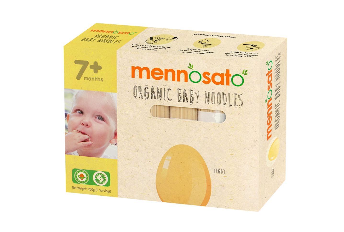Mỳ ăn dặm hữu cơ cho bé vị trứng 200g