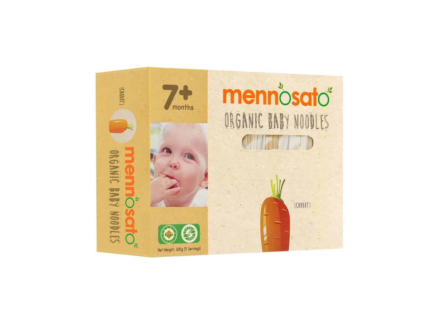 Mỳ ăn dặm hữu cơ cho bé vị cà rốt 200g