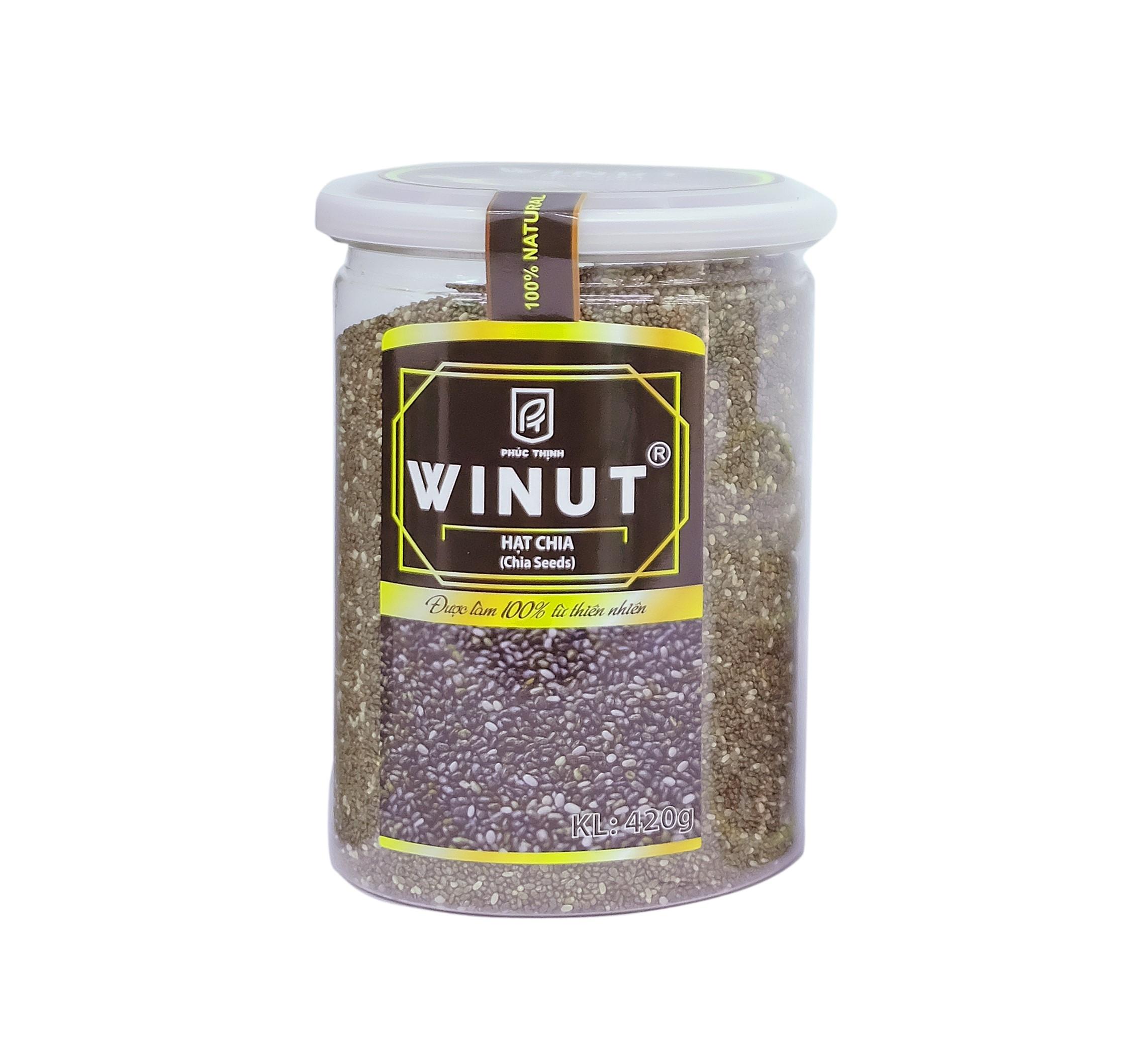 Hạt Chia 420gr Hộp nhựa