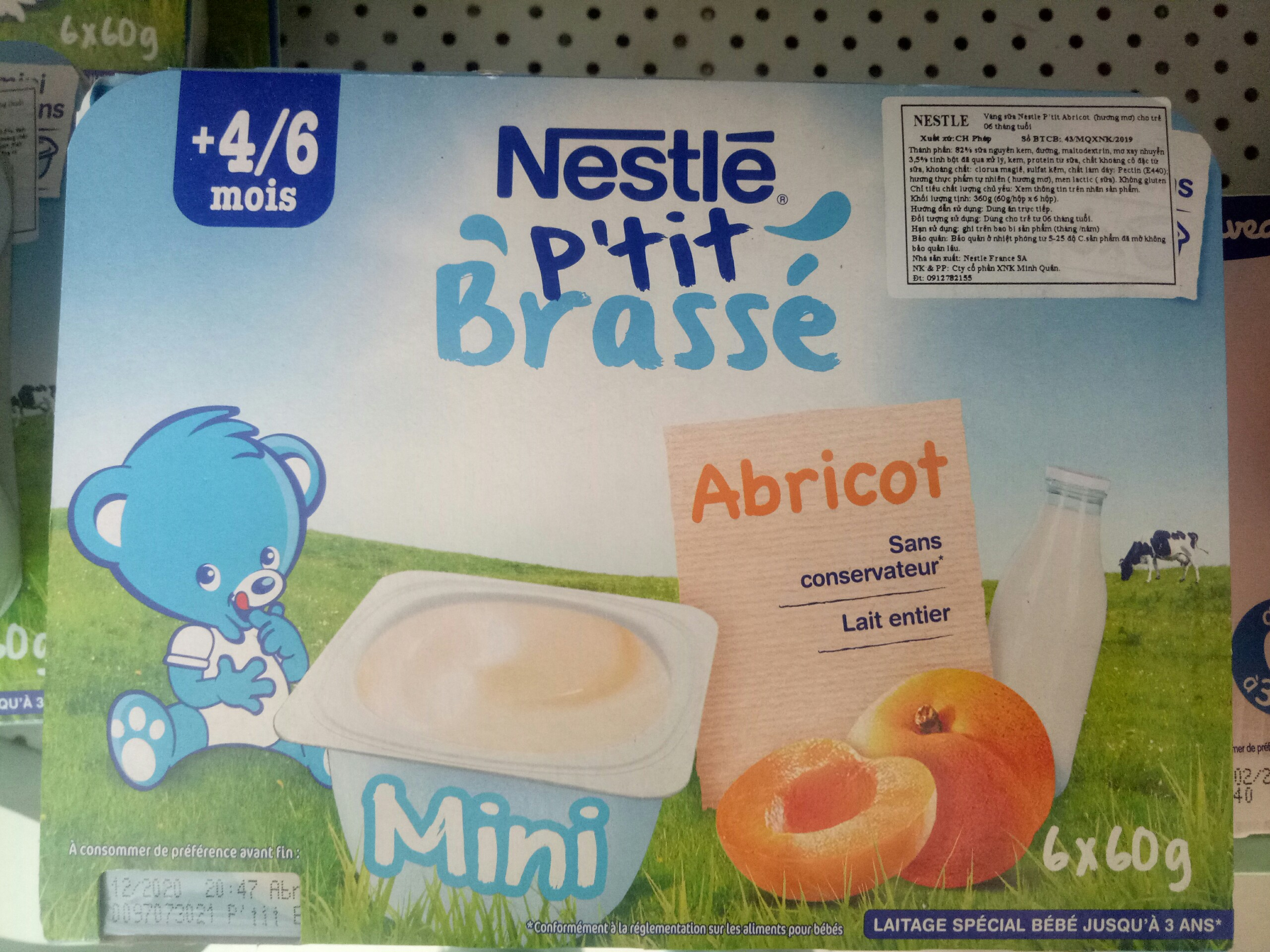 Váng sữa Nestle vị Mơ 4/6M