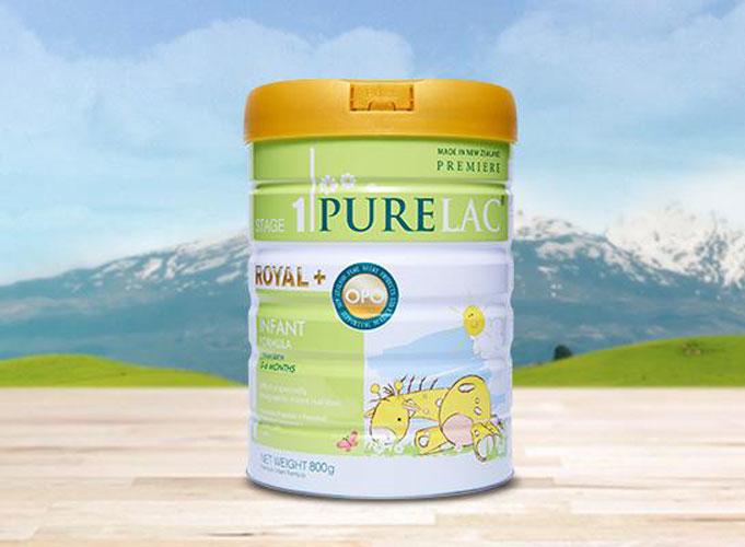 Sữa PureLac nhập khẩu New Zealand hộp 800gr cho bé từ 0 đến 6 tháng tuổi