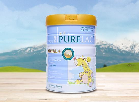 Sữa PureLac nhập khẩu New Zealand hộp 800gr cho bé từ 6 đến 12 tháng tuổi