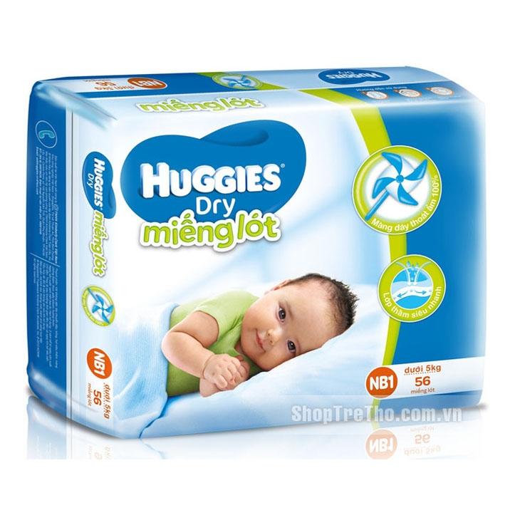 Miếng lót sơ sinh Huggies size NB1 - 56 miếng (cho bé dưới 5kg)