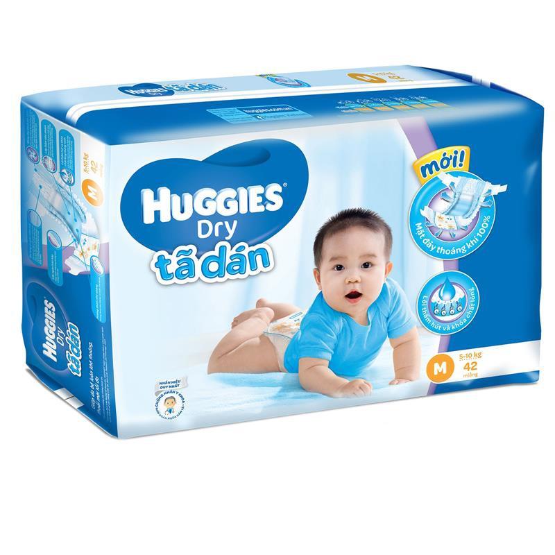 Tã dán Huggies size M - 42 miếng (cho bé 5 - 10kg)