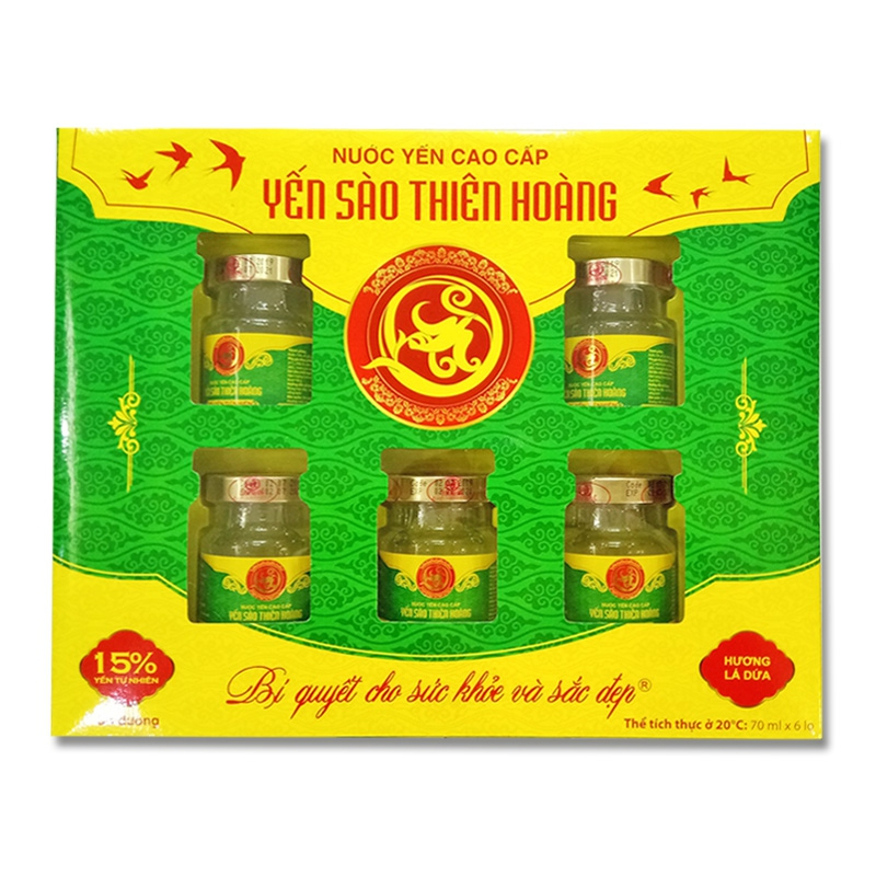 YTH CC 15% hộp 6 lọ x70ml - Hương lá dứa (5 hộp/thùng)