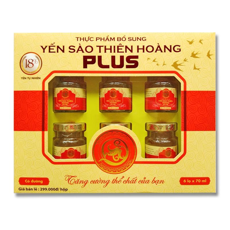 YTH Plus có đường 18% hộp 6 lọ x 70ml (5 hộp/thùng)